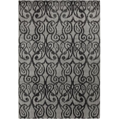 Vivienne Charcoal/Gray Suzani Area Rug Rug Size: Rectangle 52 x 76