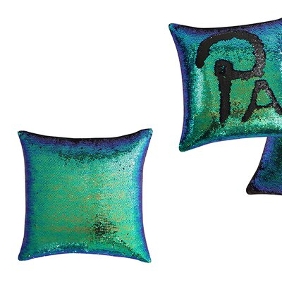 Ellison Mermaid Throw Pillow Color: Aqua/Green