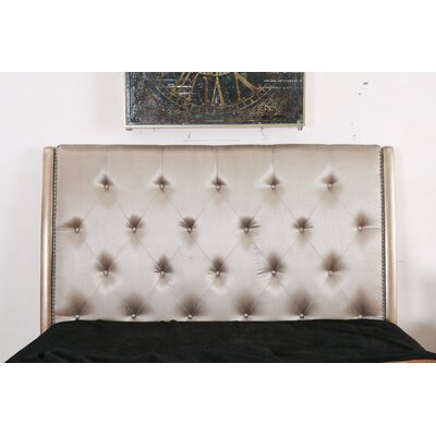 Gisella Upholstered Panel Headboard Size: Queen