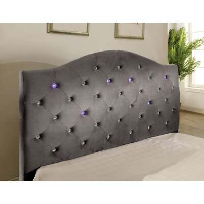 Clement Upholstered Panel Headboard Size: Full, Upholstery: Gray