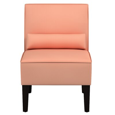 Thurston Slipper Chair Upholstery: Velvet Papaya