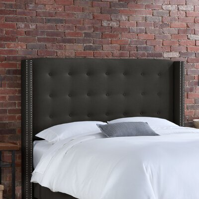 Doleman Wood Frame Upholstered Wingback Headboard