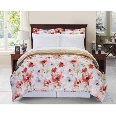 Eleonor Floral Comforter Set Size: Twin