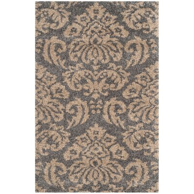 Flanery Dark Gray Area Rug Rug Size: 4 x 6