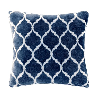 Rosalie Square Throw Pillow Color: Indigo