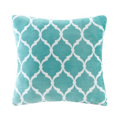 Rosalie Square Throw Pillow Color: Aqua
