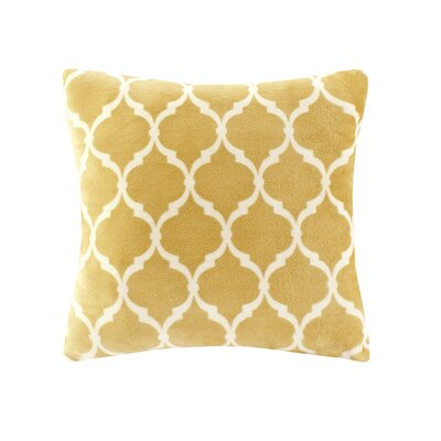 Rosalie Square Throw Pillow Color: Yellow