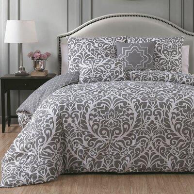 Rupert 5 Piece Comforter Set Size: King, Color: Grey