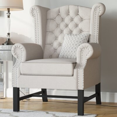 Sabion Wingback Chair Upholstery: Beige