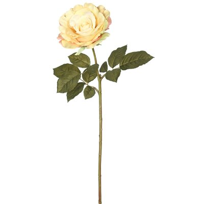 Artificial Open Rose Stem
