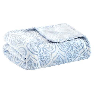Boyett Textured Ultra Plush Blanket Size: King, Color: Blue
