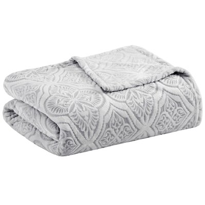 Boyett Textured Ultra Plush Blanket Size: King, Color: Gray