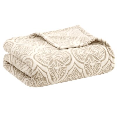 Zora Textured Ultra Plush Blanket Size: Full/Queen, Color: Taupe