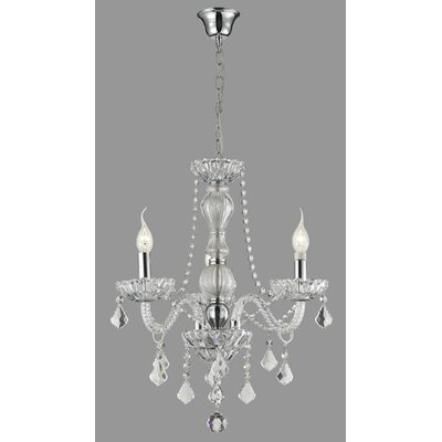 Daly 3-Light Crystal Chandelier