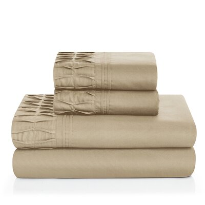 Redmayne 4 Piece Sheet Set Color: Taupe, Size: Queen