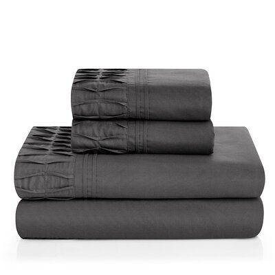 Redmayne 4 Piece Sheet Set Color: Gray, Size: Twin