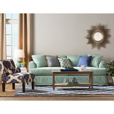 Gisele Diamond Slipper Chair Color: Diamonds Blue Ikat