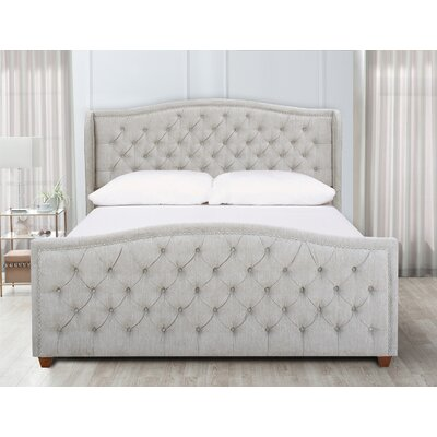 Marlon Panel Bed Color: Silver Grey