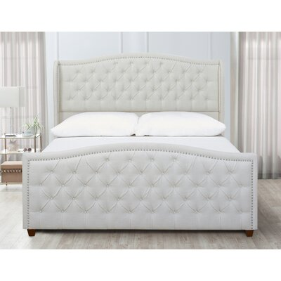 Marlon Panel Bed Color: Star White