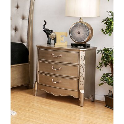 Cedric 3 Drawer Nightstand