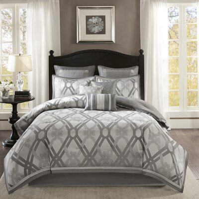 Carlstadt 9 Piece Comforter Set Size: King