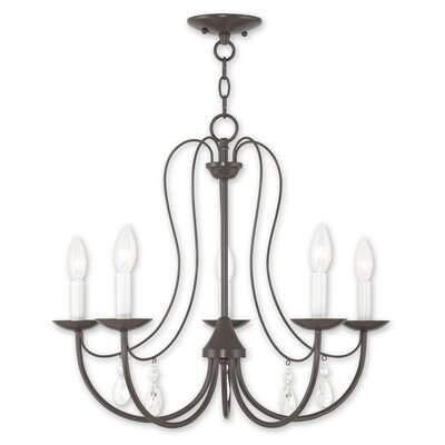 Winona 5-Light Candle-Style Chandelier Finish: English Bronze