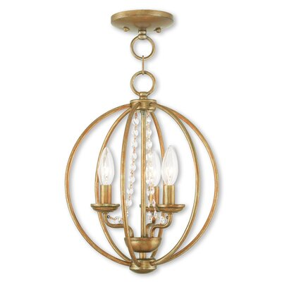 Artus 3-Light Globe Pendant Finish: Antique Gold Leaf