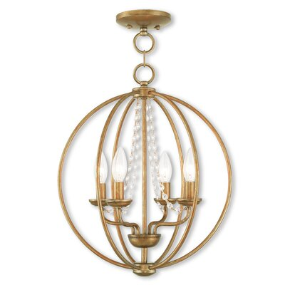 Artus 4-Light Globe Pendant Finish: Antique Gold Leaf