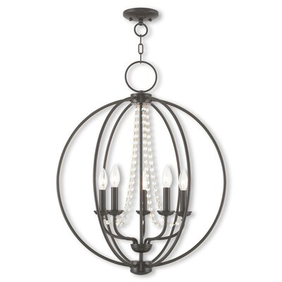 Artus 5-Light Globe Pendant Finish: English Bronze