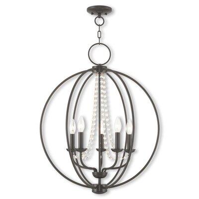 Artus 5-Light Globe Pendant Finish: English Bronze