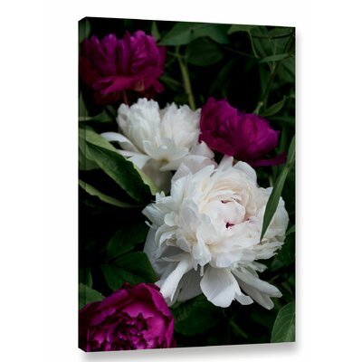 'Peonies II' Print on Wrapped Canvas Size: 12