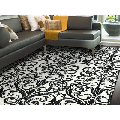 Josephine Ebony/White Area Rug Rug Size: Rectangle 36 x 56