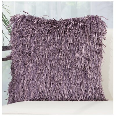Delahunt Shag Throw Pillow Color: Lavender