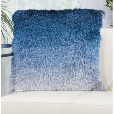 Fletcher Shag Throw Pillow Color: Indigo