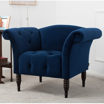 Autry Armchair Color: Navy Blue