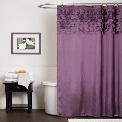 Aminu Shower Curtain Color: Purple