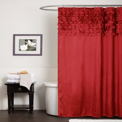 Aminu Shower Curtain Color: Red