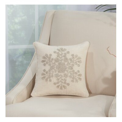 Schwartz 100% Cotton Throw Pillow Color: Silver