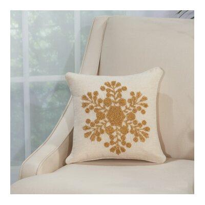 Schwartz 100% Cotton Throw Pillow Color: Gold