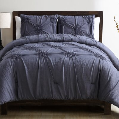 Miller Comforter Set Color: Blue, Size: King