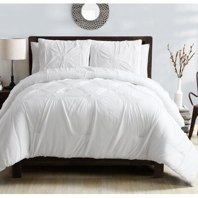Miller Comforter Set Color: White, Size: Twin