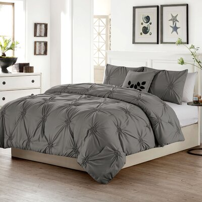 Dilsen 4 Piece Comforter Set Size: Queen