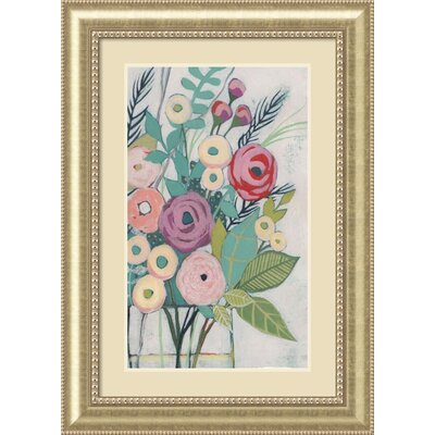 Soft Spring Bouquet I (Floral) Framed Painting Print