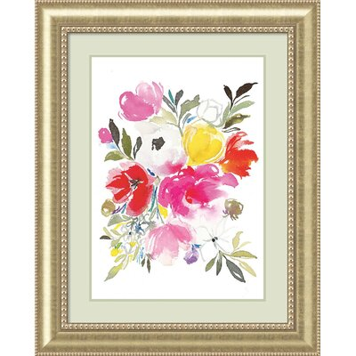 Pink Expression (Floral) Framed Painting Print