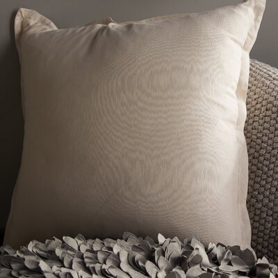 Windsor Throw Pillow Size: 22 H x 22 W x 4 D, Color: Beige