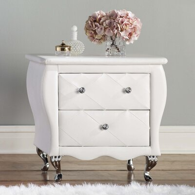 Rosanna 2 Drawer Nightstand Finish: White