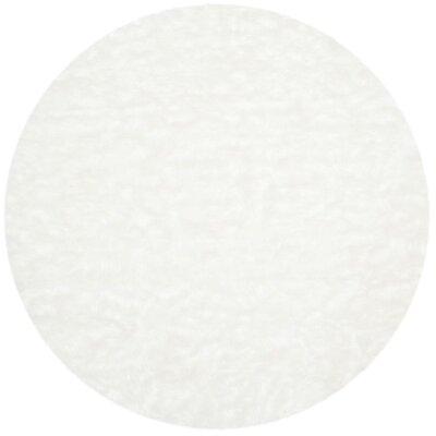 Bilton Faux Sheep Skin Area Rug Rug Size: Round 4