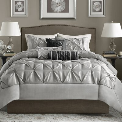 Ashton-under-Lyne 6 Piece Duvet Set Size: King/California King, Color: Gray