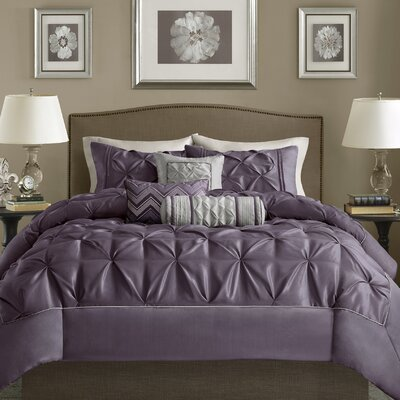 Benjamin 6 Piece Duvet Set Size: Full/Queen, Color: Plum