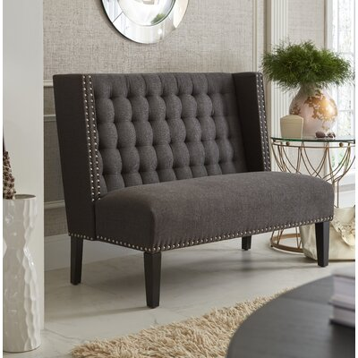 Aline Upholstered Entryway Bench Color: Charcoal